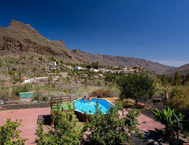 Casa con piscina en Fataga